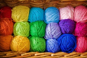 yarn in a basket