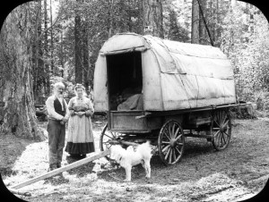 Michigan Settlers Covered Wagon