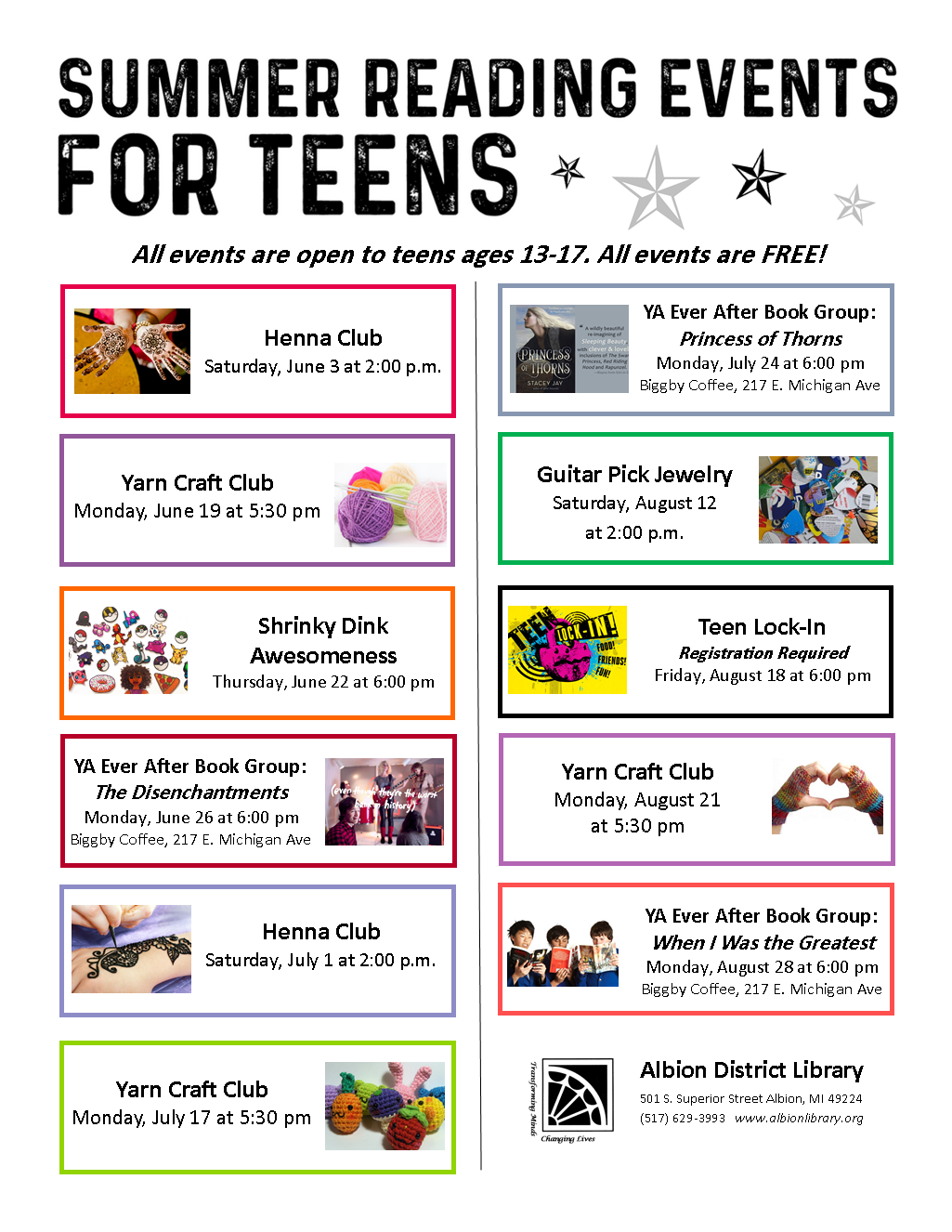 Teen SRC Events